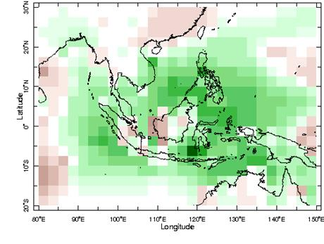 November to January rainfall anomaly composite